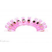 Lot de 10 pinces plastiques type Prodige - 33x12mm - 1