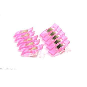 Lot de 10 pinces plastiques type Prodige - 33x12mm - 2