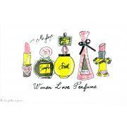 Transfert flacons de parfums - Multicolore - Thermocollant