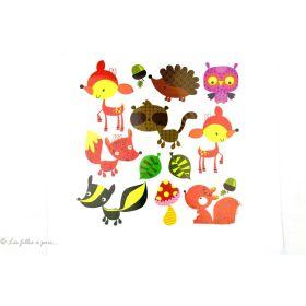 Transfert animaux de la forêt - Multicolore - Thermocollant