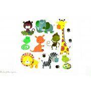 Transfert animaux de la jungle - Multicolore - Thermocollant