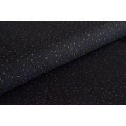 """Tissu jersey """"Dazzle Night"""" - Bleu nuit vermicelles dorés - Atelier Brunette ®"""