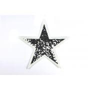 Ecusson sequin étoile - Argenté - à coudre - 1