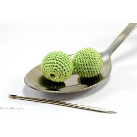 Perle crochetée faite main qualité supérieure vert pale