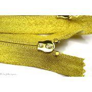 Fermeture Eclair ® lurex non-séparable spiralée - Dorée