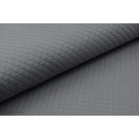Tissu jersey matelassé - Gris orageux - France Duval Stalla ®