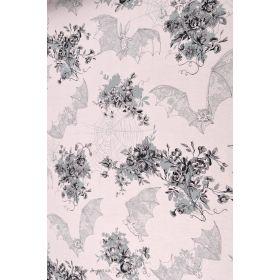 Tissu jersey premium motif chauve-souris - Beige rosé et noir - Alexander Henry ®