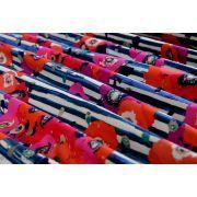 "Tissu jersey motif coquelicots ""Skopelos"" - Blanc, bleu et rouge - Oekotex ® - AGF ® Art Gallery Fabrics ® - Tissus - 4"