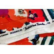 "Tissu jersey motif coquelicots ""Skopelos"" - Blanc, bleu et rouge - Oekotex ® - AGF ® Art Gallery Fabrics ® - Tissus - 6"
