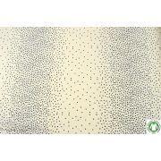 Tissu popeline de coton motif points - Ecru et noir - Bio - AGF ®