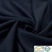 Tissu jersey punto di milano coton uni - Bleu marine - Oeko-Tex ®