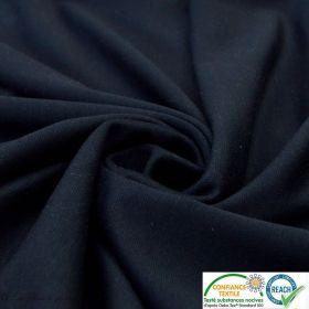 Tissu punto milano coton uni - Bleu marine - Oeko-Tex ®