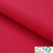 Coupon tissu jersey punto di milano coton uni - Rouge framboise - 40cm Autres marques - Tissus et mercerie - 1