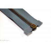 Fermeture Eclair ®  séparable métal - Noir maille bronze antique - Oeko-Tex ®
