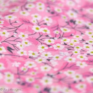Tissu coton Mitsi Valeria - Rose - Liberty Of London ®