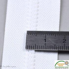 Fermeture Eclair ® séparable moulée - Blanc - Oeko-Tex ®