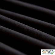 Coupon tissu jersey punto di milano coton uni - Noir - 30cm Autres marques - 4