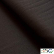 Coupon tissu jersey punto di milano coton uni - Noir - 30cm Autres marques - 1