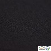 Coupon tissu jersey punto di milano coton uni - Noir - 30cm Autres marques - 2