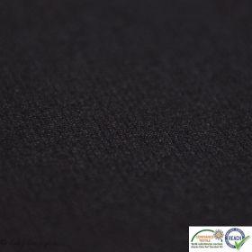 Tissu punto milano coton uni - Noir - Oeko-Tex ®