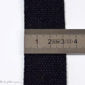 Sangle coton - Noir - 30mm