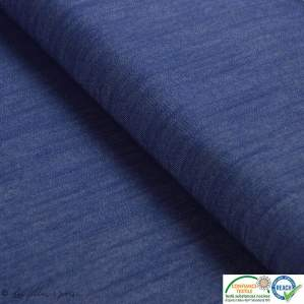 Tissu jeans stretch - Bleu nuit - Oeko-tex ®