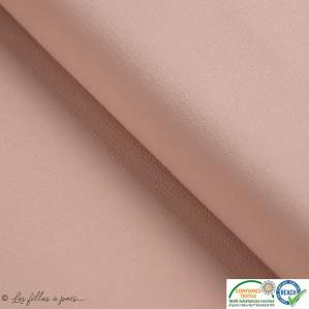 Tissu crêpe stretch - Vieux rose - Oeko-tex ®