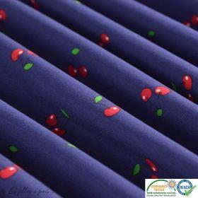 Sweat molleton léger rayé rubis lurex (doux)
