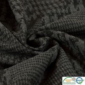 Jersey coton rayé marron