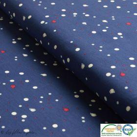 Jersey coton rayé bleu foncé
