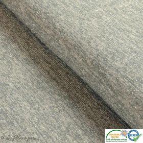 Coupon tissu jersey viscose paillette légère - Gris et argenté - 50cm Autres marques - 1