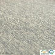 Coupon tissu jersey viscose paillette légère - Gris et argenté - 50cm Autres marques - Tissus et mercerie - 2