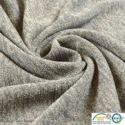 Coupon tissu jersey viscose paillette légère - Gris et argenté - 50cm Autres marques - Tissus et mercerie - 4