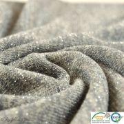 Coupon tissu jersey viscose paillette légère - Gris et argenté - 50cm Autres marques - Tissus et mercerie - 3