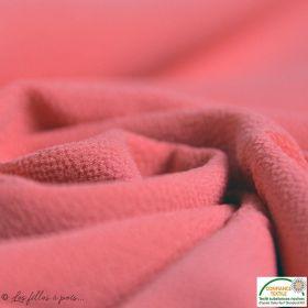 Tissu crêpe stretch - Corail - Oeko-tex ®