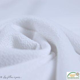 Tissu crêpe stretch - Blanc - Oeko-tex ®
