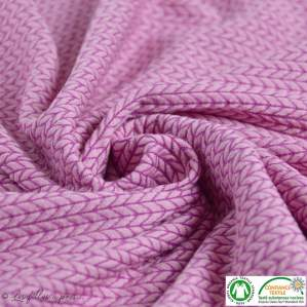Tissu jacquard Big Knit - Rose - Bio - ALB Stoffe ® - Hamburger Liebe ®