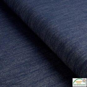 Tissu jeans stretch - Bleu nuit