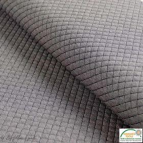Tissu jacquard motif losange - Gris