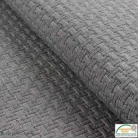 Tissu jacquard motif géométrique - Gris - Oeko-Tex ®