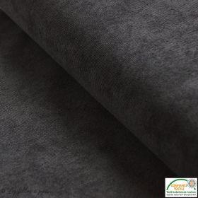 Tissu velours milleraies - Noir - Oeko-Tex ®