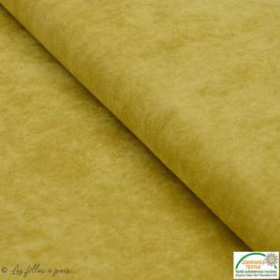Tissu velours milleraies - Ocre - Oeko-Tex ®