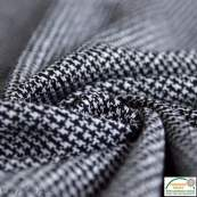 Tissu jacquard motif pied de poule - Noir et blanc - Oeko-Tex ®
