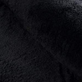 Tissu Teddy-Fourrure Mouton double face - Noir