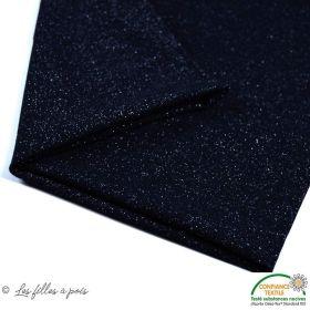 Bord côte jersey tubulaire paillette - Noir - 25cm - Oeko-Tex ®