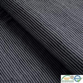 Tissu jersey coton motif rayure - Gris et noir - Oeko-Tex ®