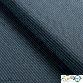 Tissu jersey coton motif rayure - Gris et vert d'eau - Oeko-Tex ®