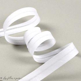 Biais polycoton - Blanc - 18mm