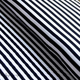 Tissu jersey viscose motif rayure - Blanc et noir