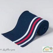 Bord côte plat à rayure - Bleu, blanc et rouge